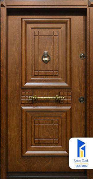 درب ضد سرقت طرح آبنوس SD105