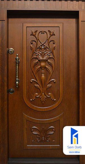 درب ضد سرقت دو قاب گلدانی SD112