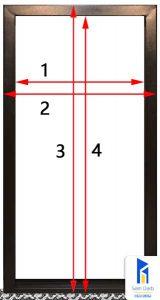 اندازه گیری چهار چوب درب