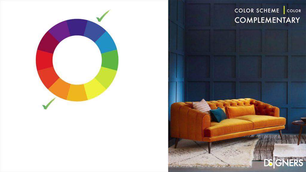 رنگ بندی مکمل در چرخه رنگ