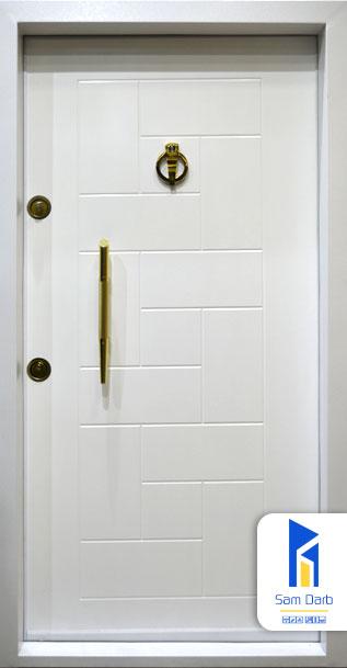 درب ضد سرقت پازلی سفید