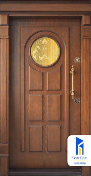 درب ضد سرقت دایره ای شیشه خور SD122