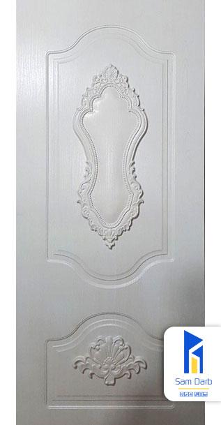 درب اتاقی روکش PVC منبت سفید