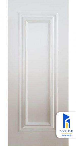 درب اتاق خواب سفید برجسته PVC-B301