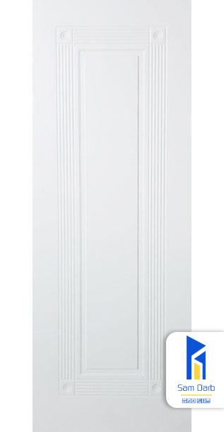 درب اتاق سفید ساده